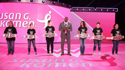 Titus O'Neil introduce honorees from Susan G. Komen in the fight against breast cancer: Raw, Oct. 22, 2018