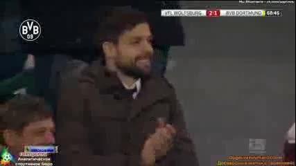 Ивица Олич носи победата на Волфсбург със страхотен гол. Волсбург - Борусия Д 2-1 9.11.2013