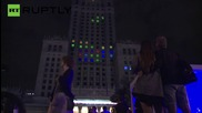 Giant Tetris Game Played on the Windows of Polish Building