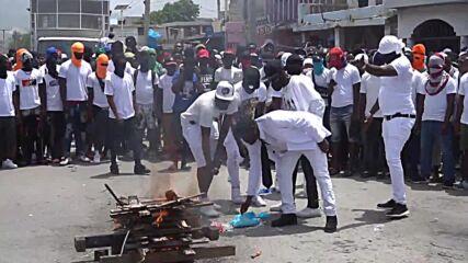Haiti: Hundreds rally in honour of slain president Moise in Port-au-Prince
