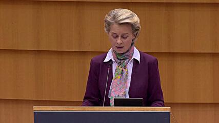Belgium: Harris, Ardern and Von der Leyen address European Parliament on International Women's Day