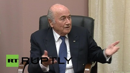 Russia: FIFA President Sepp Blatter gives Putin 'five stars' for 2018 World Cup preparation