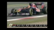 F1 Гран при на Китай 2011 - изхвърчялата гума на Хайме Алгуерсуари
