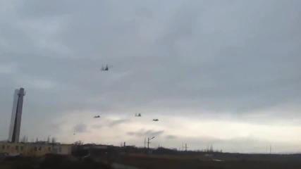 Руски хеликоптери над Украйна