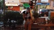 Desafio Del Agua Helada . (ice Bucket Challenge) Camila Y Sandra