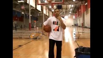 Урок по Баскетбол:как се прави Дриблинг между краката