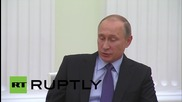 Russia: Putin meets with Price Albert II of Monaco in Moscow
