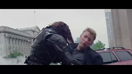 Highway Fight Scene _ Captain America The Winter Soldier 2014