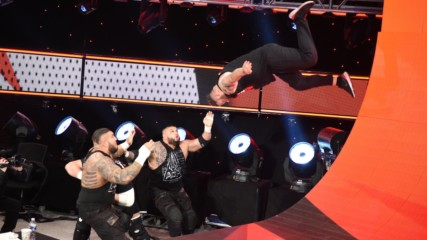 Alternate angles of Kevin Owens' insane Raw stage dive: Raw, Jan. 13, 2020