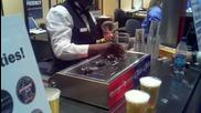 Наливане на бира от дъното