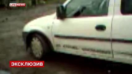 """Атака на """"десен сектор"""" в Славянск. Един убит. 13.04.2014"""