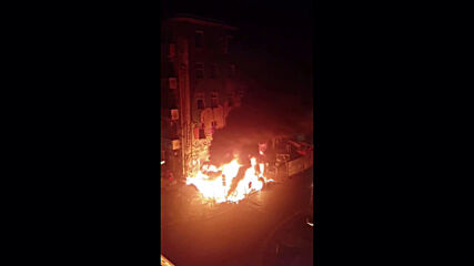 Germany: Fire breaks out outside evacuated Liebig34 squat in Berlin