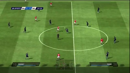 Fifa 11 Gameplay pc Manchester United vs Manchester City