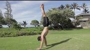 Гимнастика за напреднали- ходене на ръце