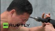 Бормашина не може да пробие главата на Кунг Фу майстор от Шаолин