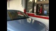 Paris Hilton hits up Mcdonalds drive thru.