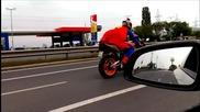 Superman Супермен е българин и кара мотор на задна в София!