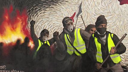 France: Yellow Vests mural has more than meets the eye