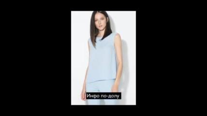 Zee Lane Collection Къса бежова блуза