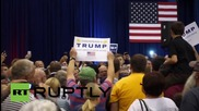 USA: Donald Trump whips up support at Iowa rally