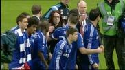 Радостта на Челси след триумфа с Купата на Лигата
