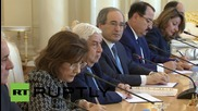 Russia: Lavrov discusses settlement of Syria conflict with Syrian FM