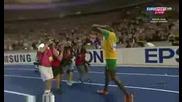 Юсеин Болт прелетя 200м за 19.19 секунди