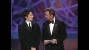 Zach Braff се бъзика с Hugh Laurie (Хаус) Emmys 2006