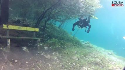 Пленителното зелено езеро в Австрия