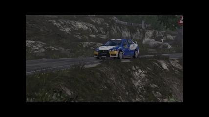 Планинско каране на Mitsubishi Evo