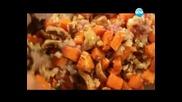 Супа с пуешко и гъби, тарт с праз и козе сирене - Бон апети (02.01.2013г.)