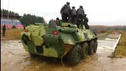 Руснаци тестват Btr - 82 A във вода !