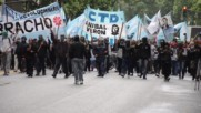 Argentina: Hundreds protest British military excercises in UK-occupied 'Falklands'