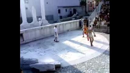 Пловдив - Постановка на гладиаторски игри на одеона (част1)