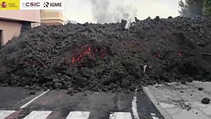 Spain: Spectacular images of eruption and lava at the foot of the La Palma volcano