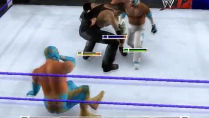 Wwe 12 Live Син Кара срещу Рей Мистерио срещу Джон Сина срещу Гробаря Световната титла