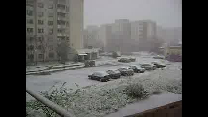Сняг - 12.11.2007 - Студентски Град