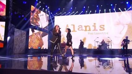Demi Lovato Alanis Morissette-american Music Awards-22.11.2015