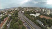 Квадракоптер със стабилизирана камера - тест над София