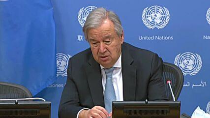 UN: Secretary-General Guterres condemns military coup in Sudan