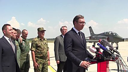Serbia: Vucic thanks Russia for fighter jet gift