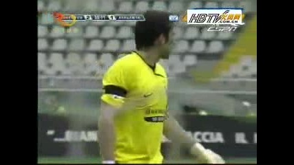 Juventus Vs. Atalanta 2 - 2 Zanetti Гол 17.05.2009