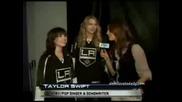 Demi Lovato & Taylor Swift - Interview - La Kings vs. Tampa Bay Lightning.