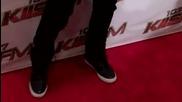 Jason Derulo flexes his toned muscles while arriving at Kiis Fm's 2011 Wango Tango