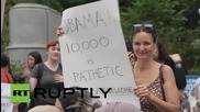 USA: Over 1000 protesters gather in NYC in defence of refugees