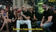 Vin Diesel, Nina Dobrev and Michael Bisping at xxx Return of Xander Cage Brazil Comic Con Panel 2016