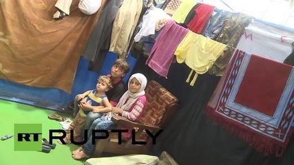 Syria: Latakia Stadium hosts internally displaced Syrian children