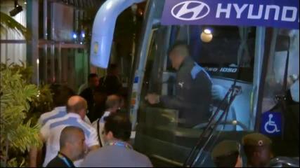 Уругвай пристигна в Рио де Жанейро без звездата си Луис Суарес