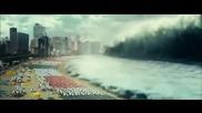 Унищожително цунами залива голям град в Япония - Откъс от филм