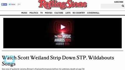 After Tragedy, Scott Weiland Strips Down STP, Wildabouts Songs